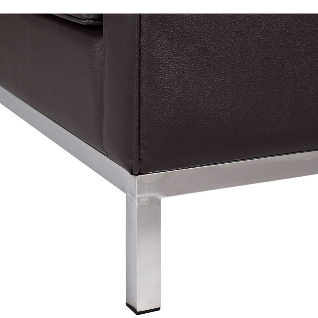 Espresso Bateman Leather Sofa 2
