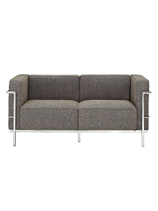 Oatmeal Simple Large Wool Loveseat