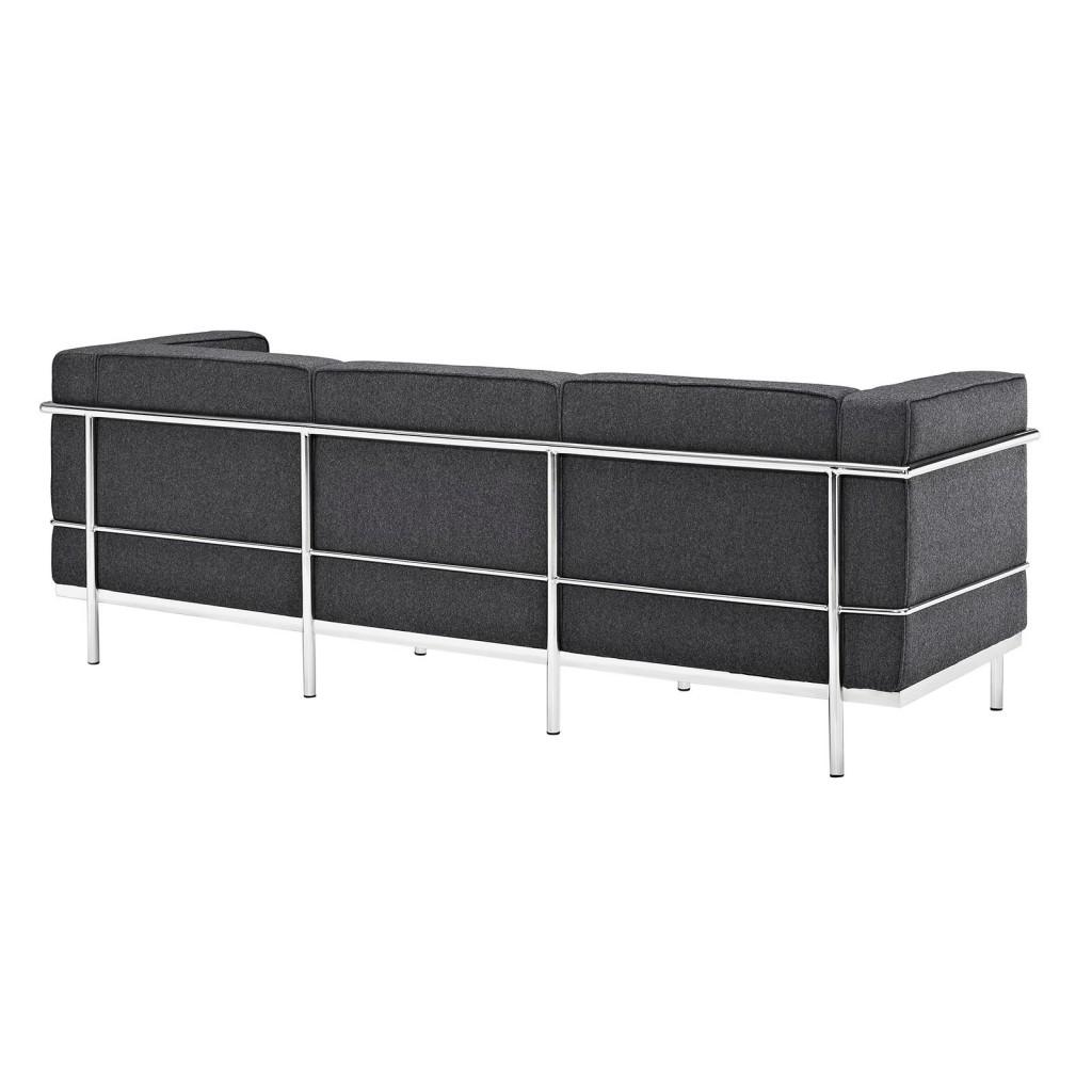 Simple Large Wool Sofa Dark Gray 1