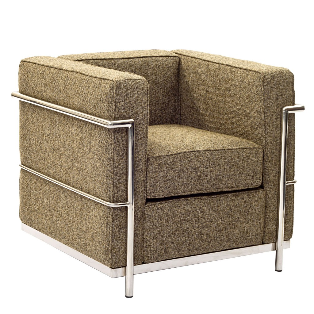 Simple Medium Wool Armchair Oatmeal 1