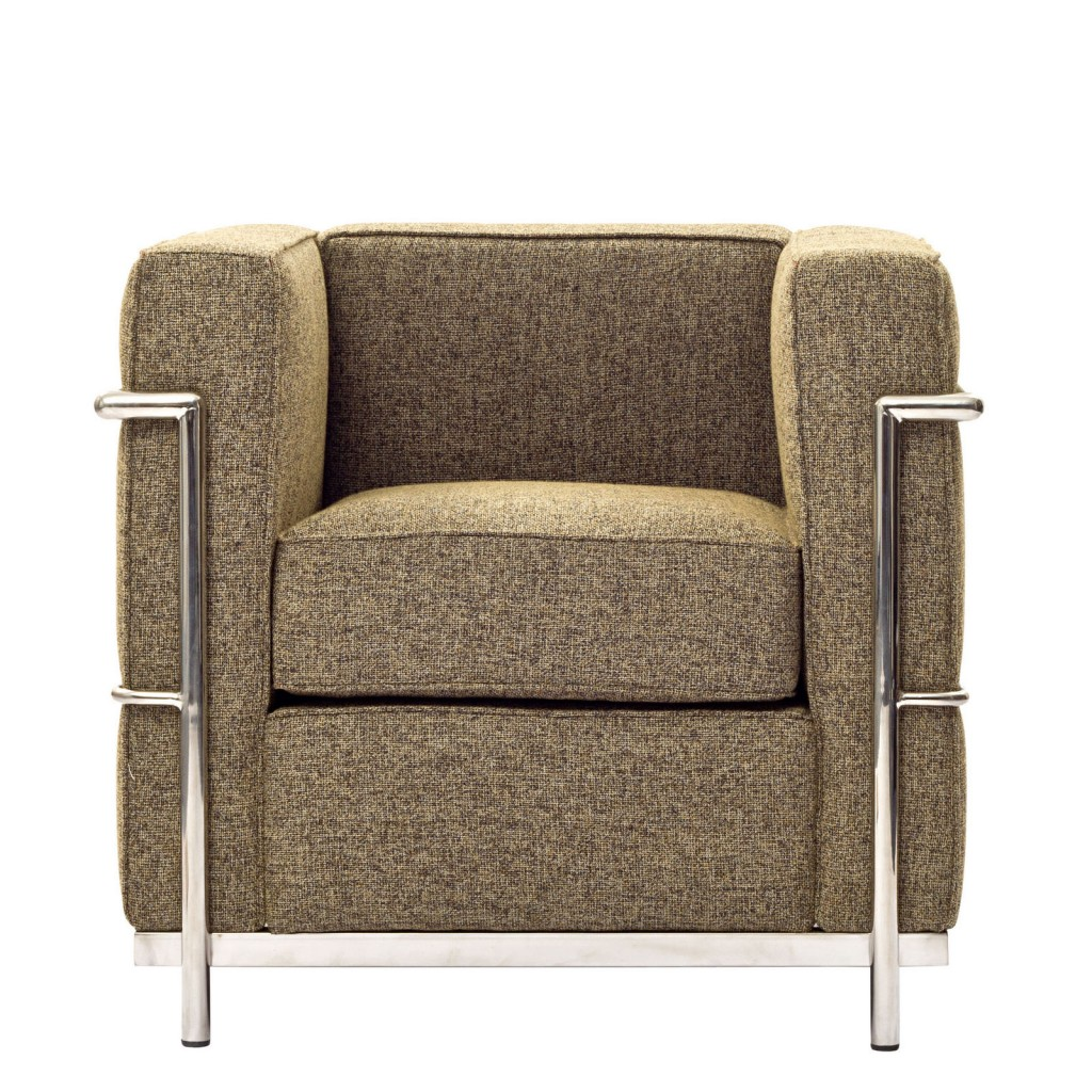 Simple Medium Wool Armchair Oatmeal