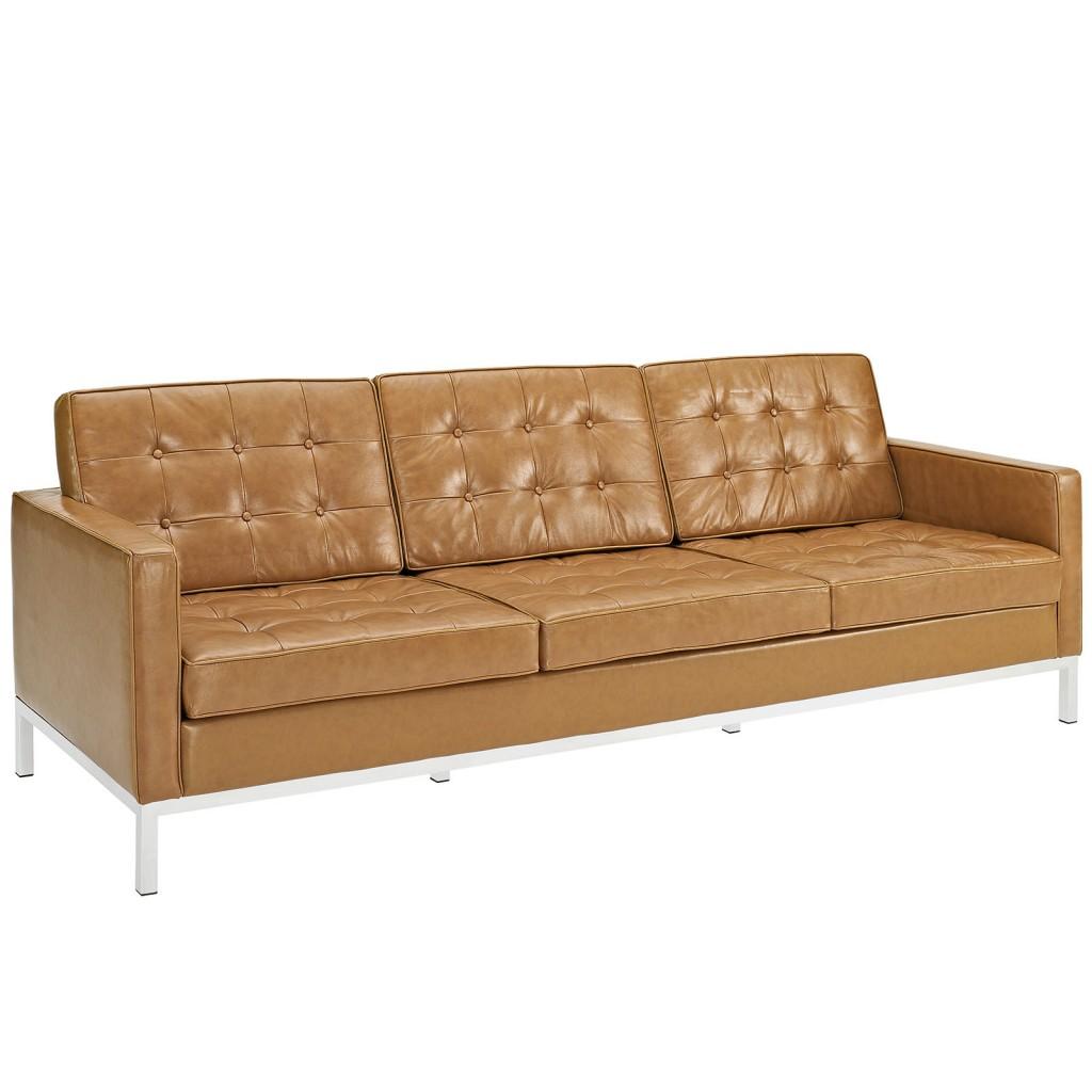 Tan Bateman Leather Sofa 1