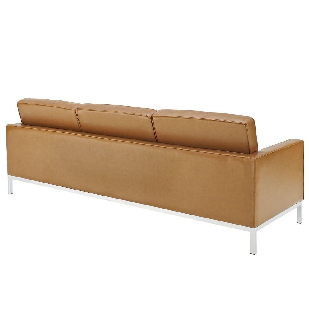 Tan Bateman Leather Sofa 2