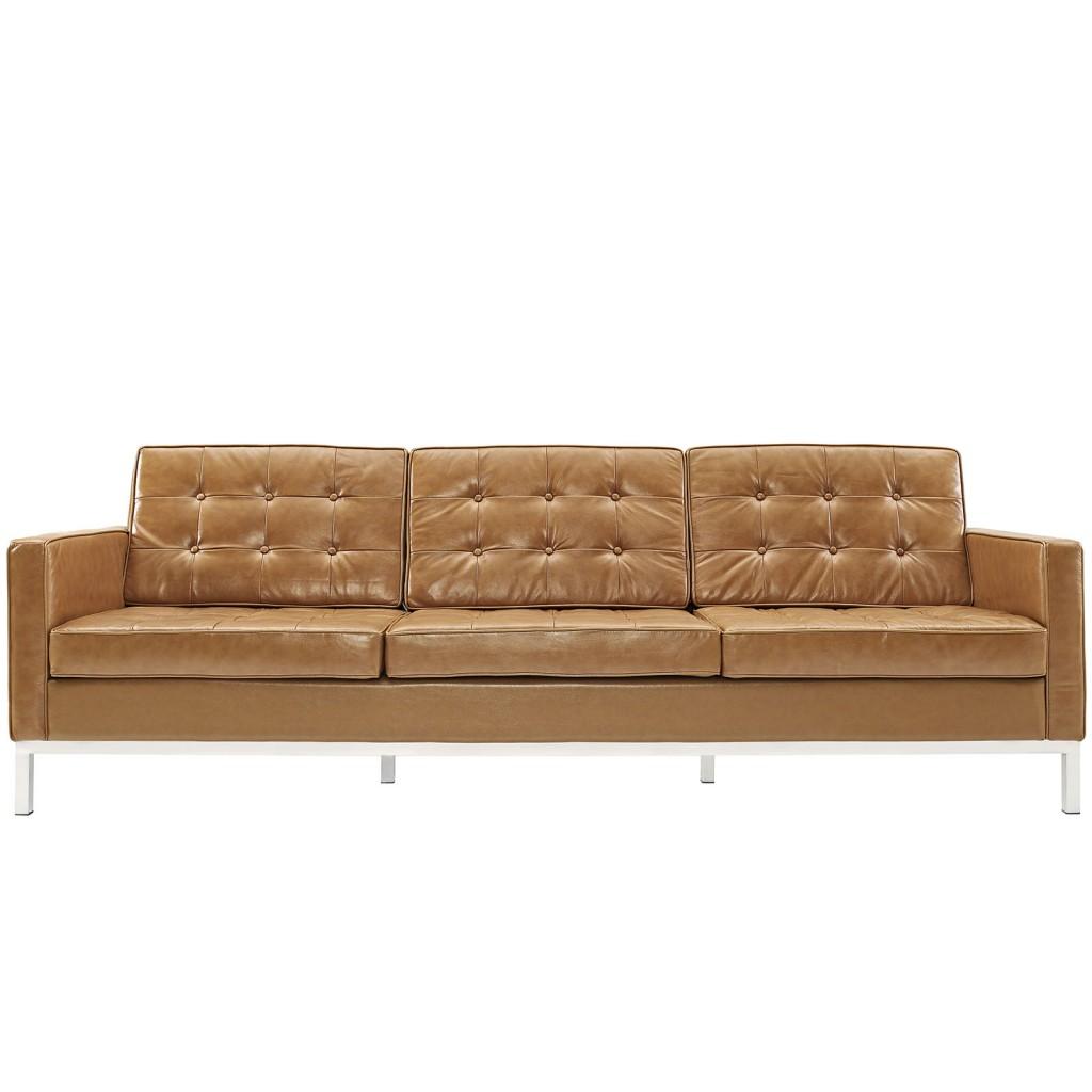 Tan Bateman Leather Sofa