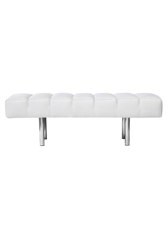White Paragon 2 Seater Bench