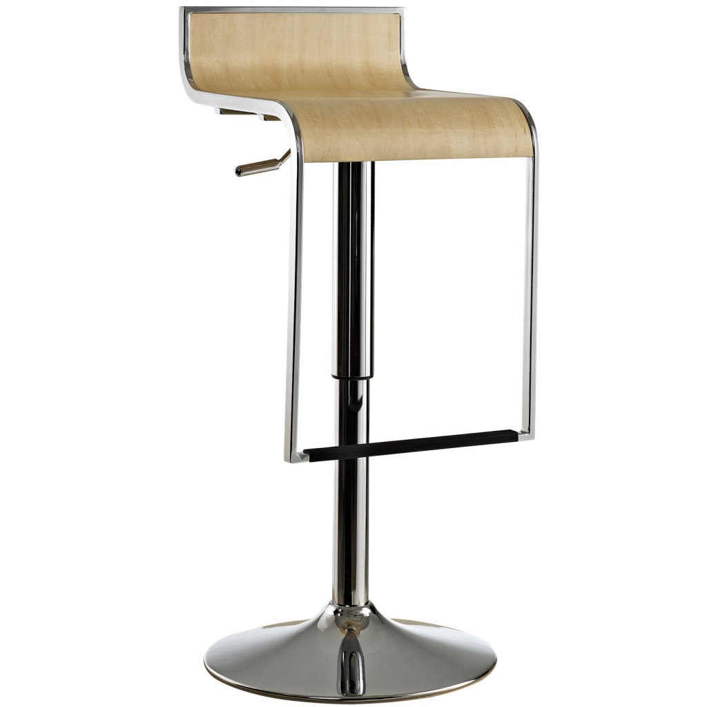 Hydroglide Natural Wood Barstool
