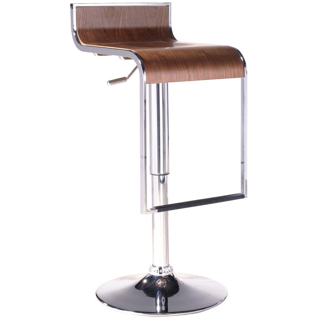 Hydroglide Walnut Wood Barstool
