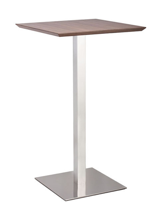 Walnut Square Bar Table1
