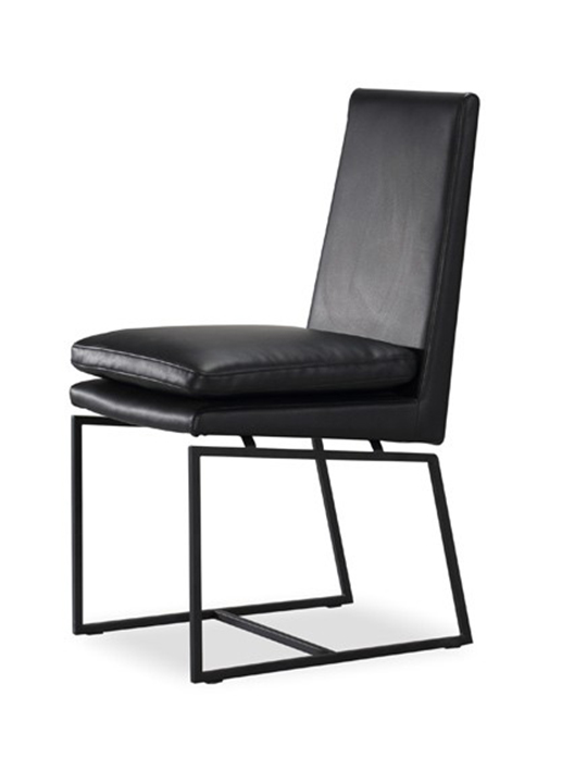 Black Motty Leather Chair