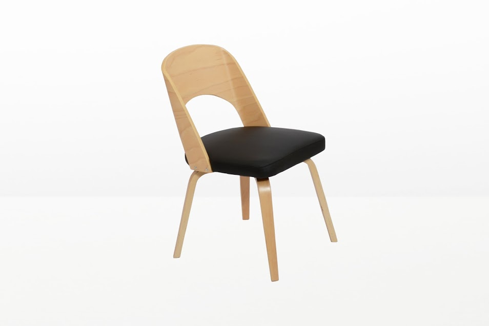 Construct Chair Natural Wood Black 3