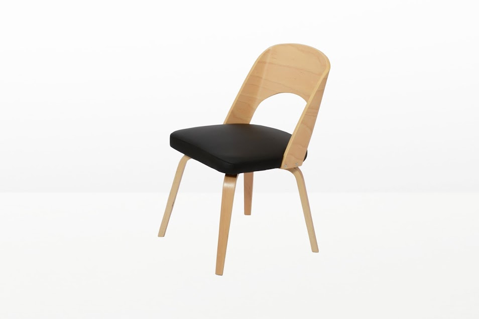 Construct Chair Natural Wood Black 5