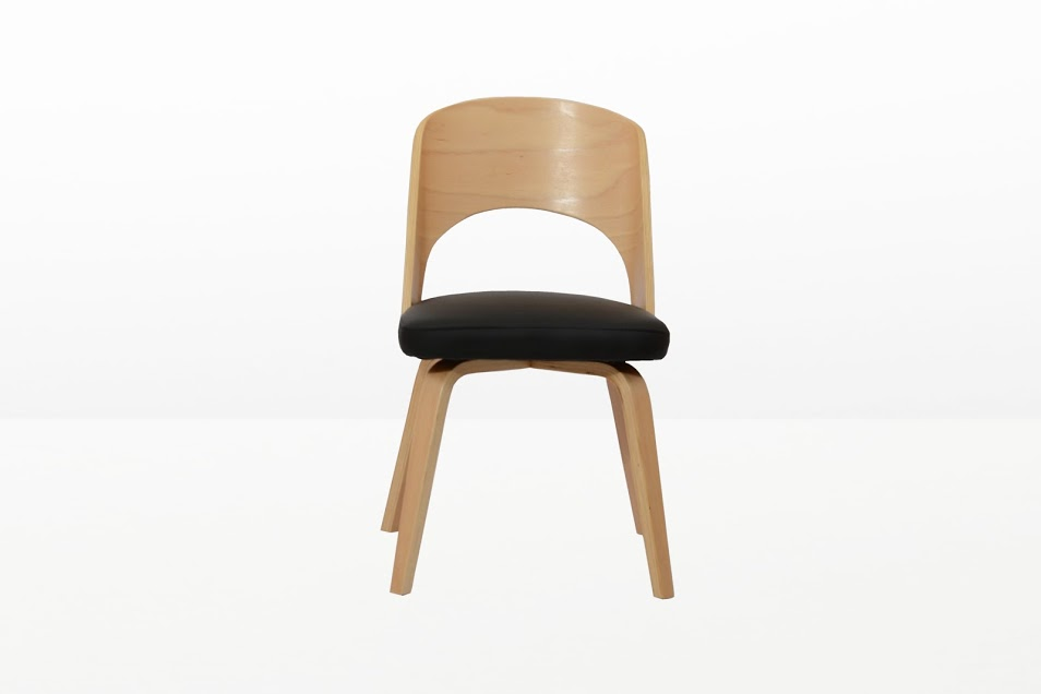 Construct Chair Natural Wood Black 6