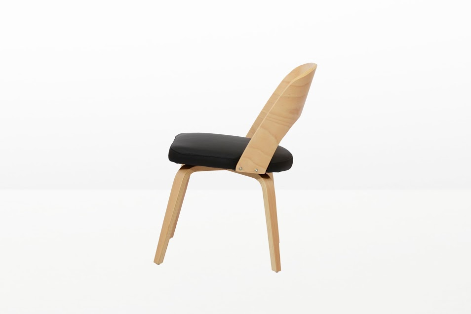 Construct Chair Natural Wood Black 7