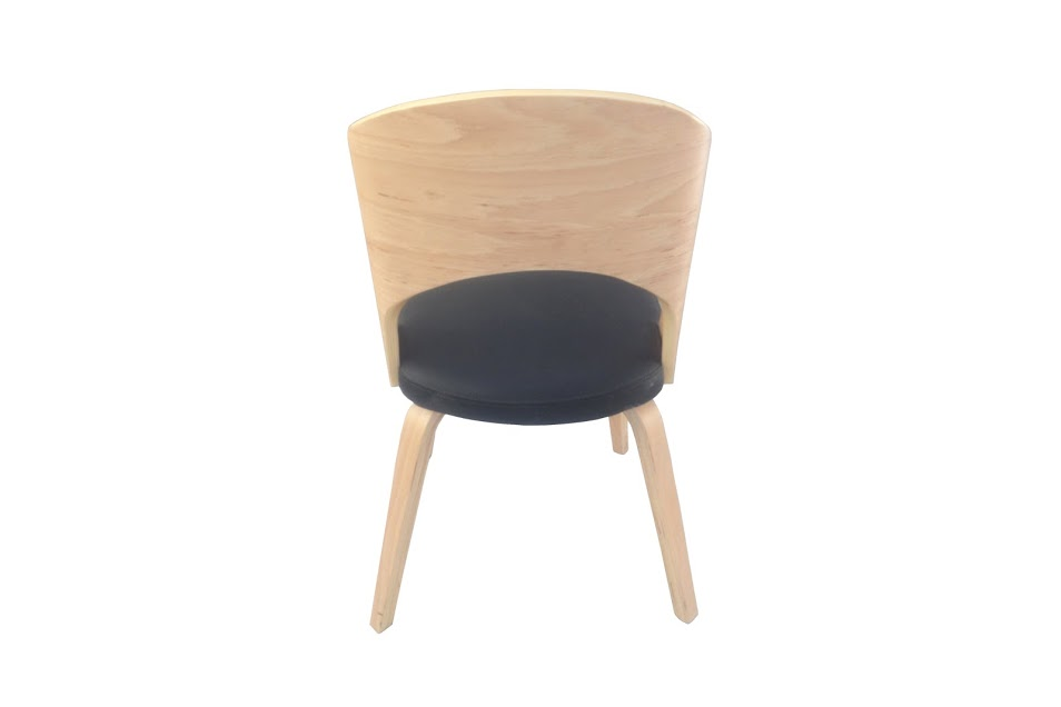 Construct Chair Natural Wood Black