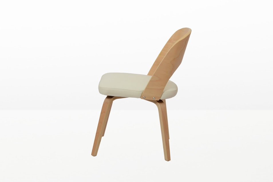 Construct Chair Natural Wood White 3