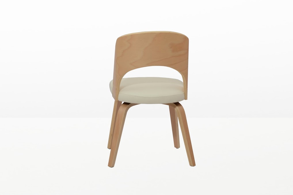 Construct Chair Natural Wood White 4