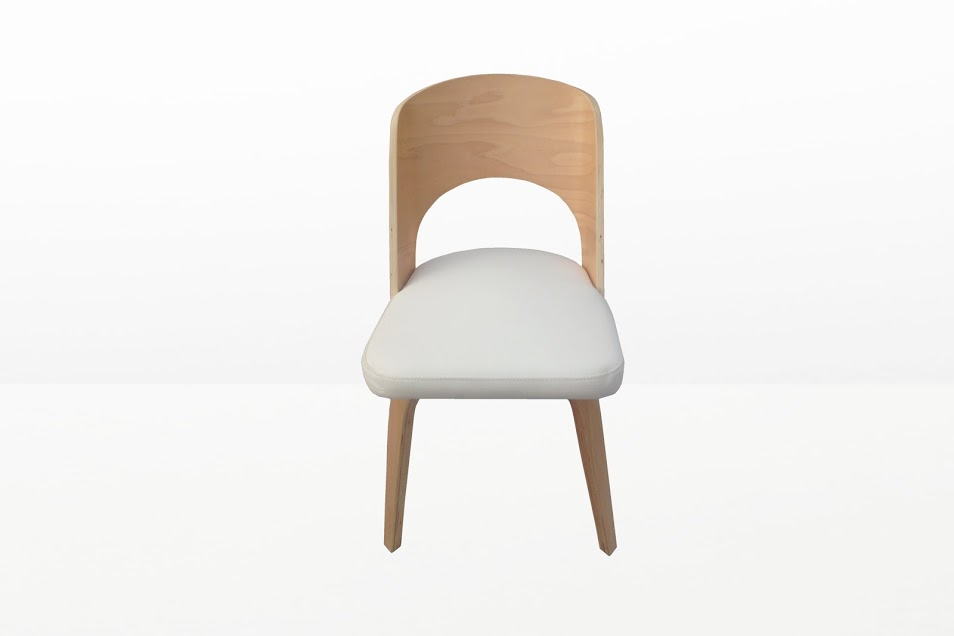 Construct Chair Natural Wood White
