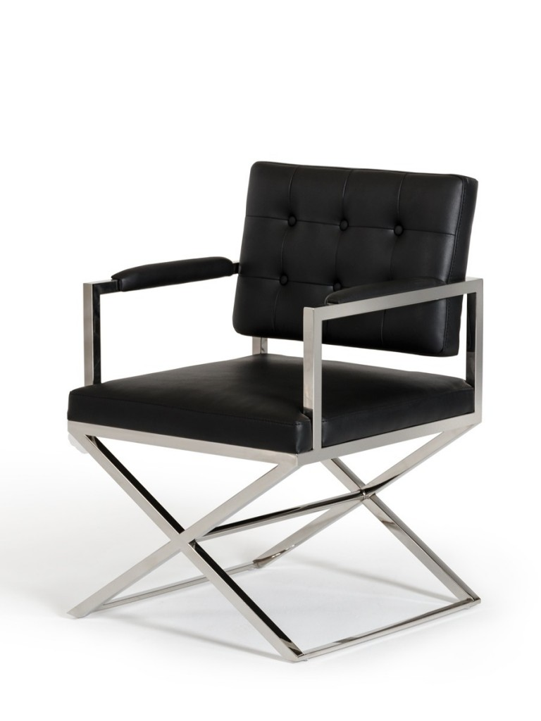 Glam Chair Black Leather 3