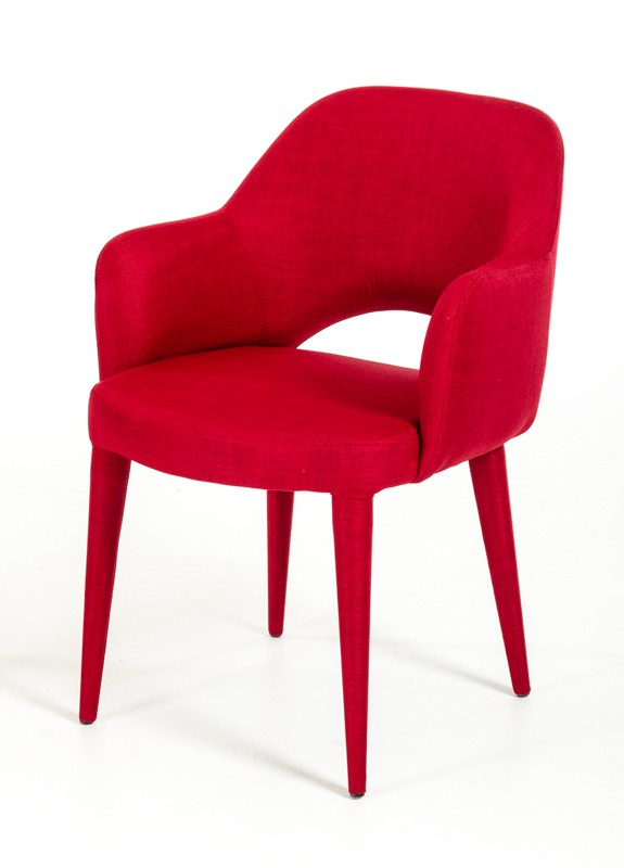 Porter Red Wool Chair 4