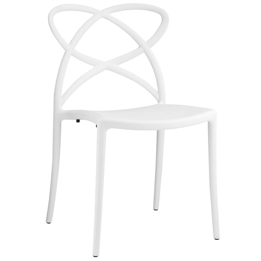 White Atom Chair
