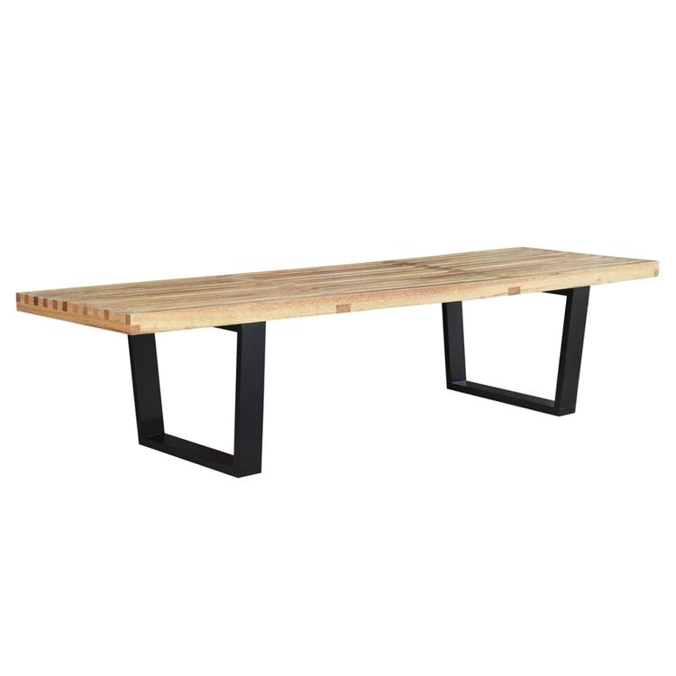Natural Wood Samurai Triple Slat Bench 5 B