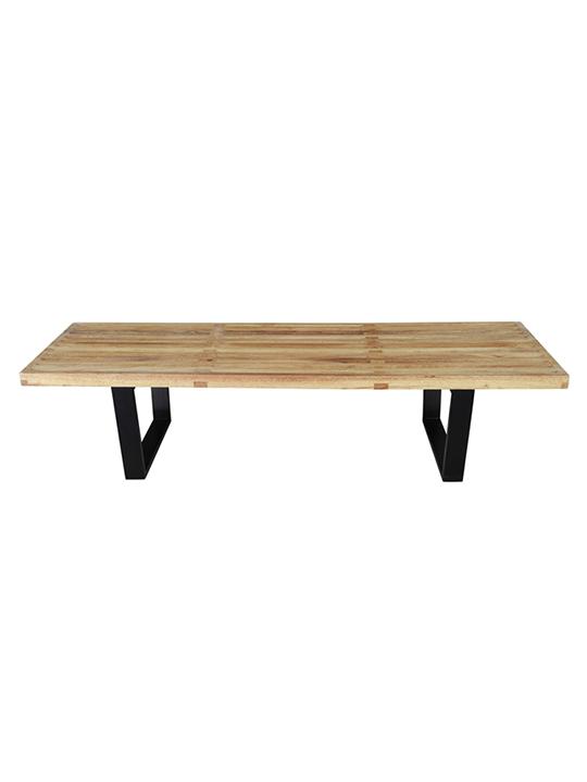 Natural Wood Samurai Triple Slat Bench 5