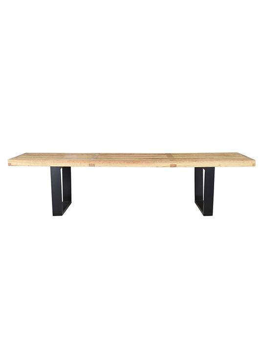 Natural Wood Samurai Triple Slat Bench 6