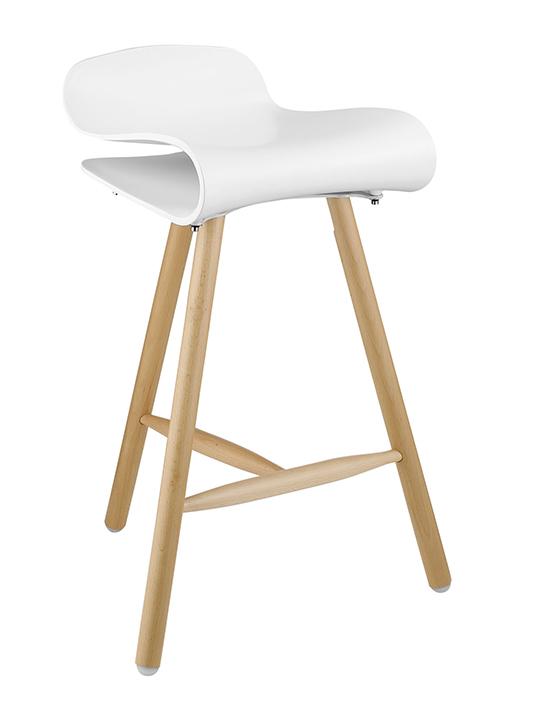 Modern White Barstool