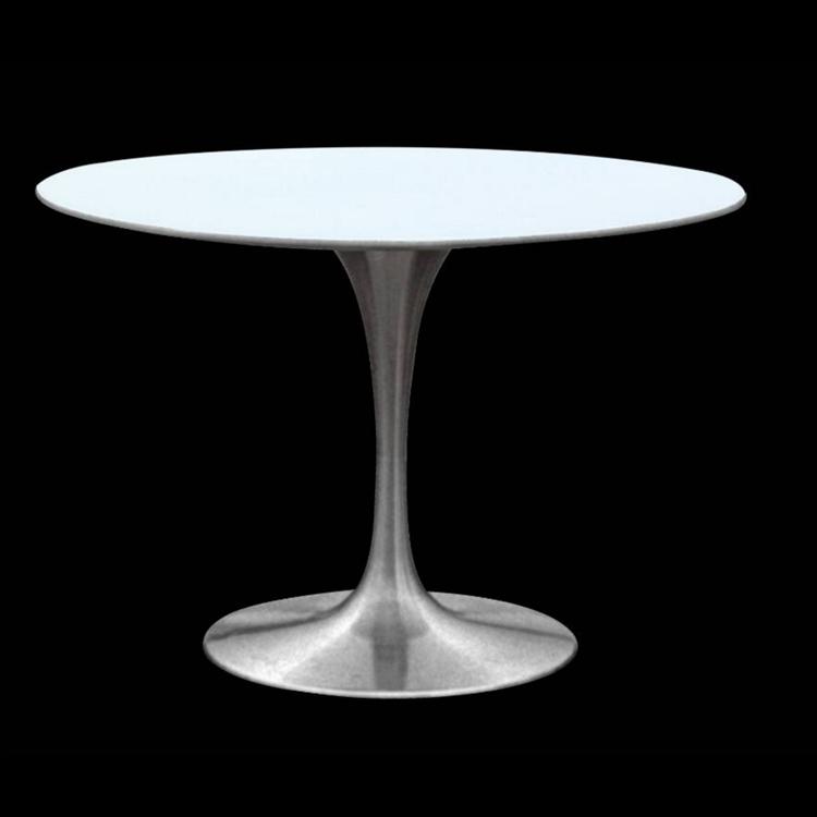 Brilliant Chrome Tulip Dining Table