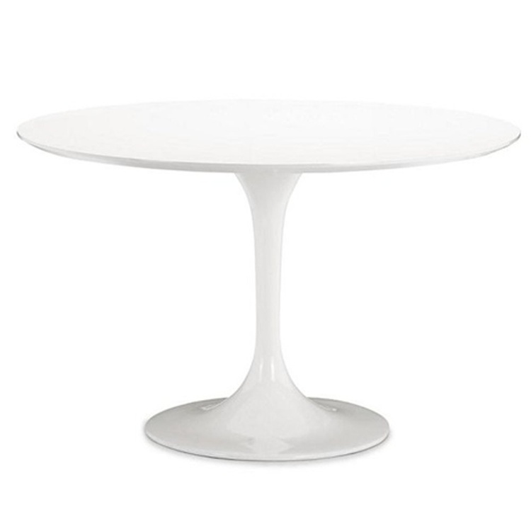 Brilliant White Tulip Table 30 Inch