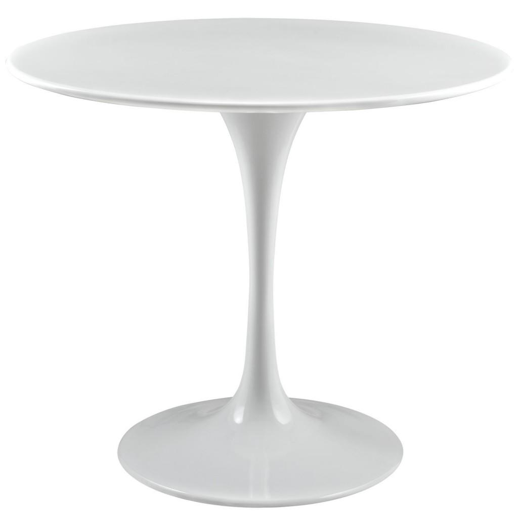 Brilliant White Tulip Table 36 Inch