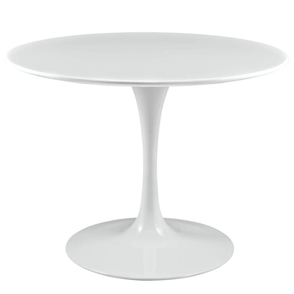 Brilliant White Tulip Table 40 Inch