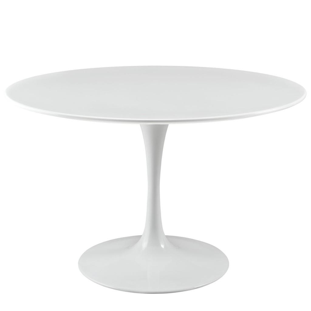 Brilliant White Tulip Table 48 Inch