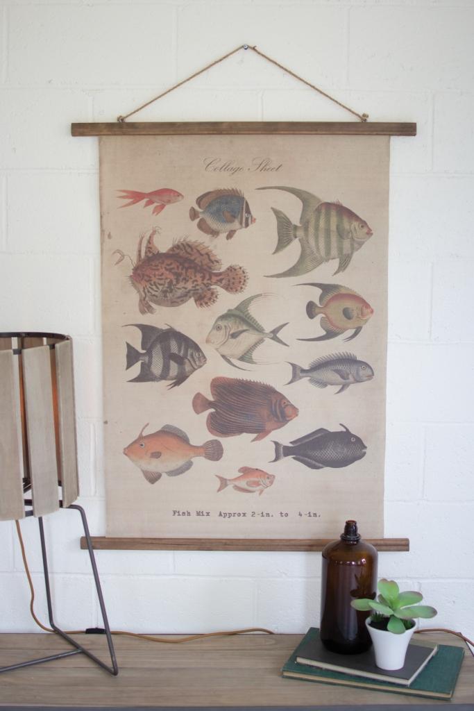 Canvas Tropical Fish Wall Art