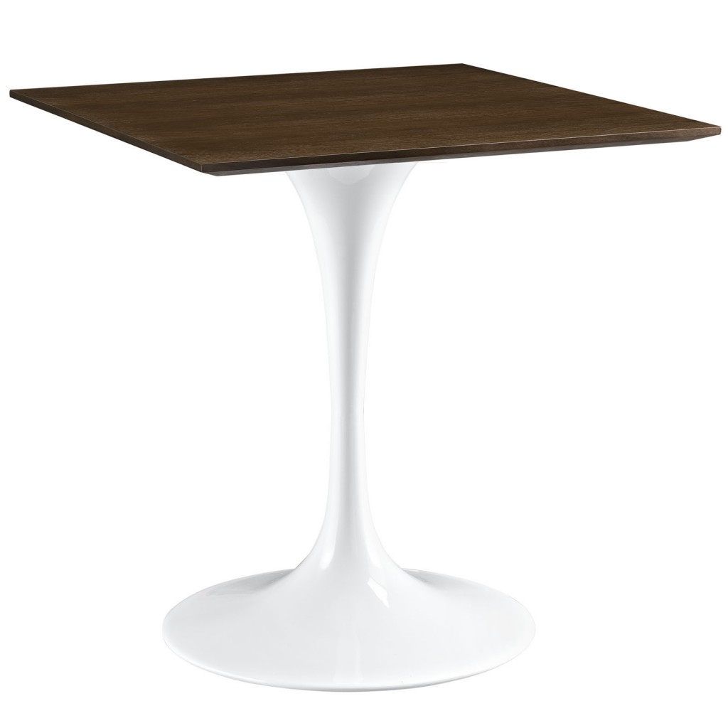 Dusk Square Walnut Wood Dining Table 28 Inch