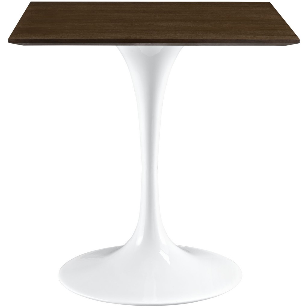 Dusk Square Walnut Wood Dining Table 28 Inch 2