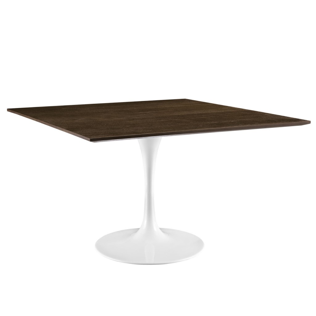 Dusk Square Walnut Wood Dining Table 48 Inch