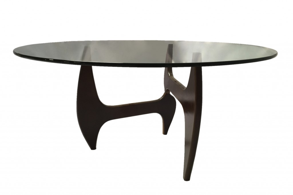 Esquire Wood Glass Dining Table