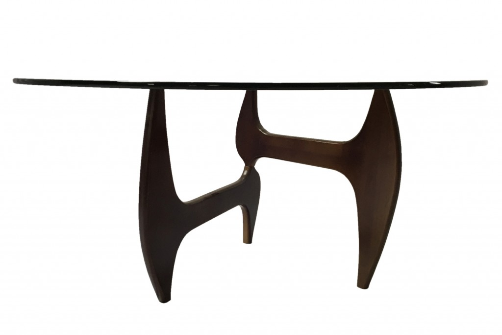 Esquire Wood Glass Dining Table 11