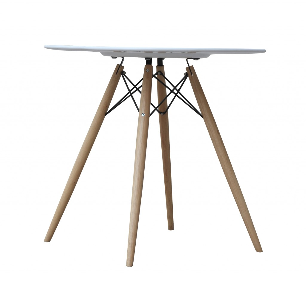 MCM White Wire Table 29 Inch