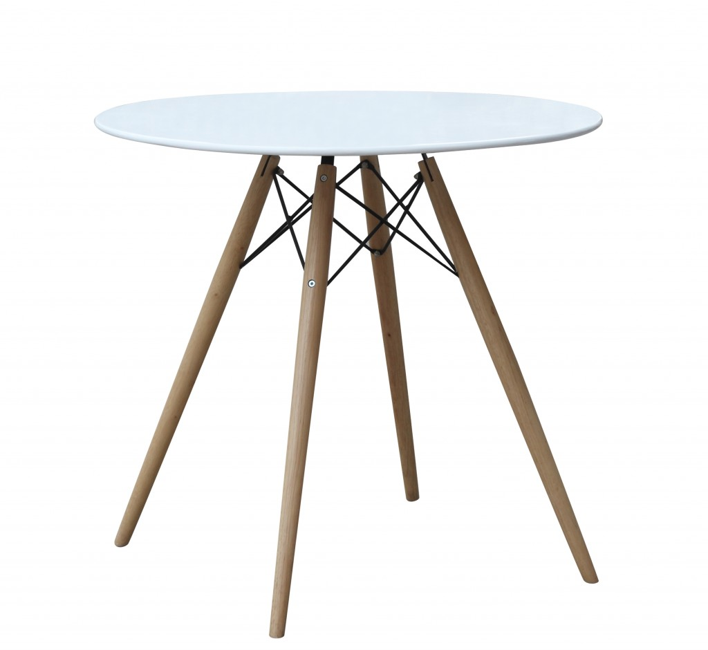 MCM White Wire Table 29 Inch 2
