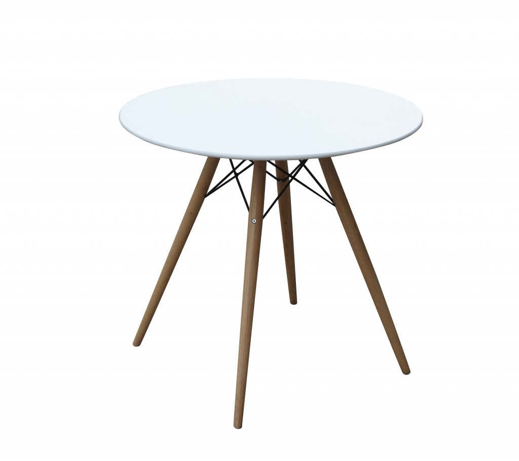 MCM White Wire Table 29 Inch 3