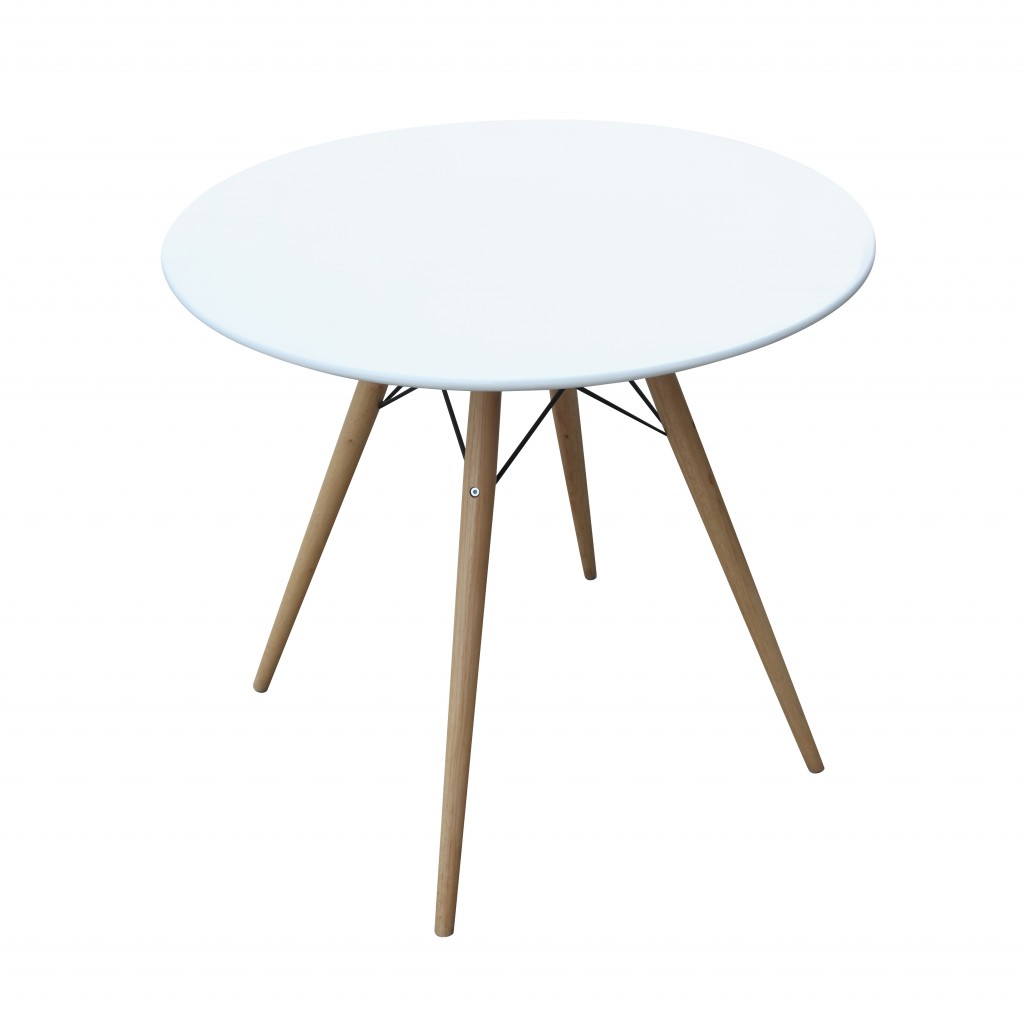 MCM White Wire Table 29 Inch 6