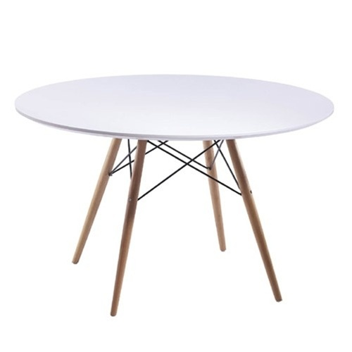 MCM White Wire Table 48 Inch