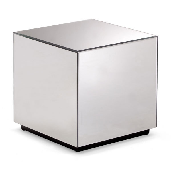 Mirror Cube Side Table
