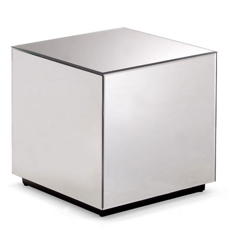 Mirror Cube Side Table1