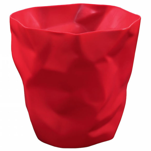 Red Paper Sculpt Trash Bin 3 2