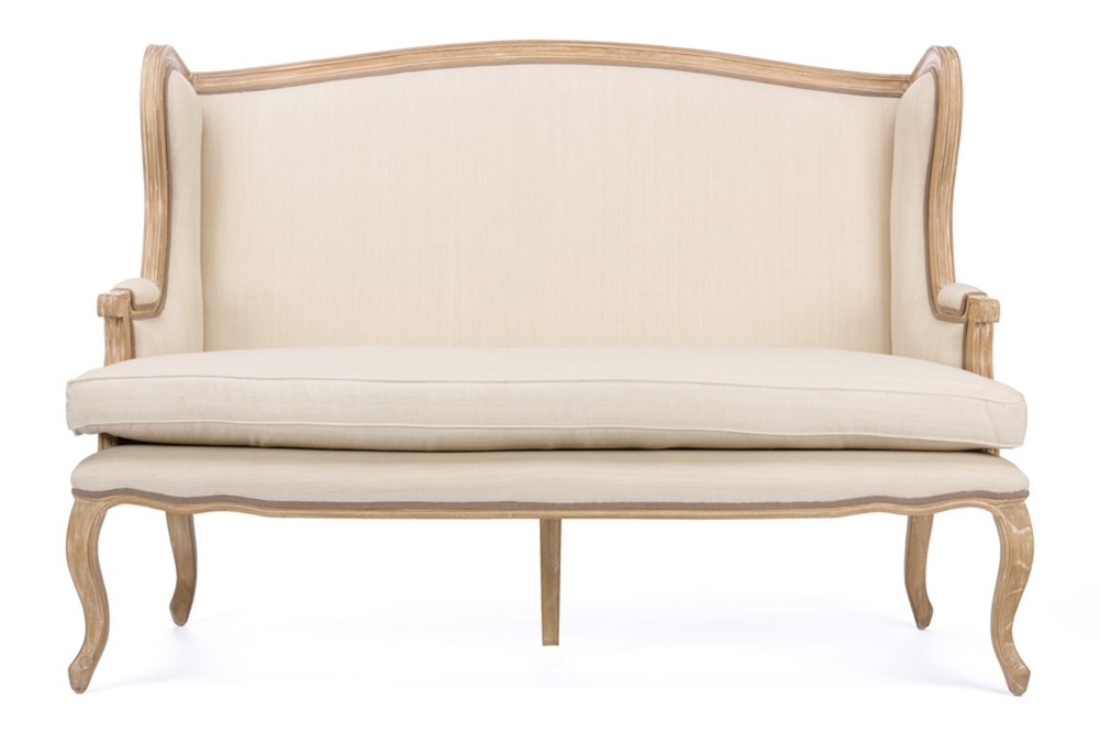 Empress Beige Fabric Loveseat 1
