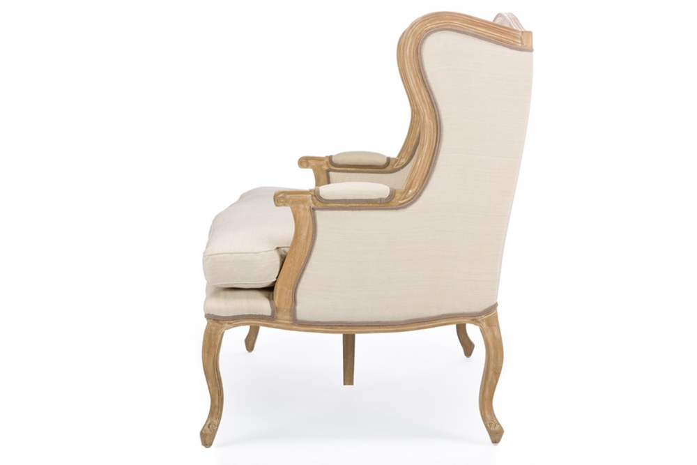 Empress Beige Fabric Loveseat 3