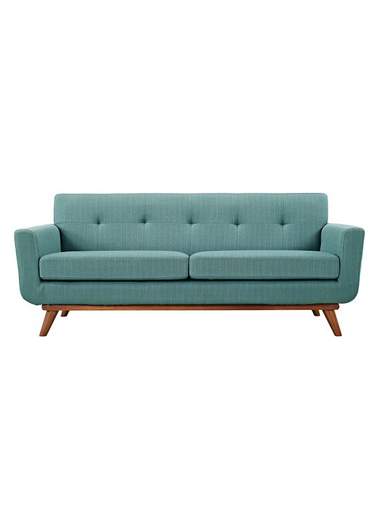 Light Blue Pop Art Loveseat
